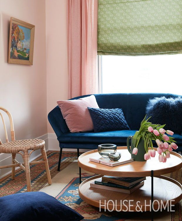 Color Palette Inspiration Olive Green Petrol Blue Warm Pink Eclectic Living Room Blue And Pink Living Room Pink Living Room