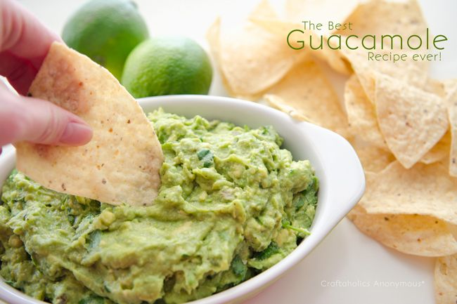 Best Guacamole Recipe ever. Seriously. We eat this stuff up in minutes!