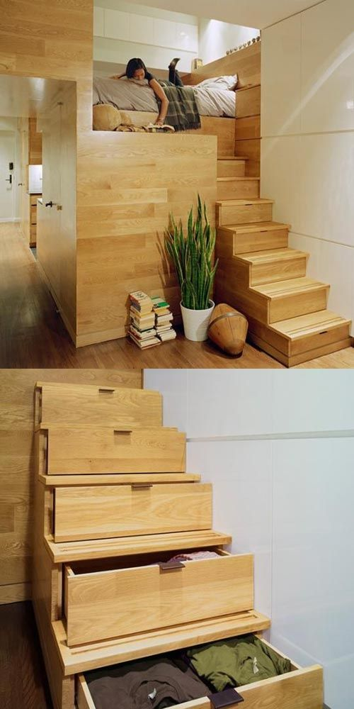 Small Spaces, Big Design! Many ideas for tiny home organization and design. Click through for the full scoop.
