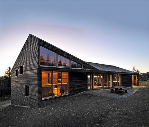 This one in Norway responds to the slopes on the site, to maximise space, while remaining low profile.
