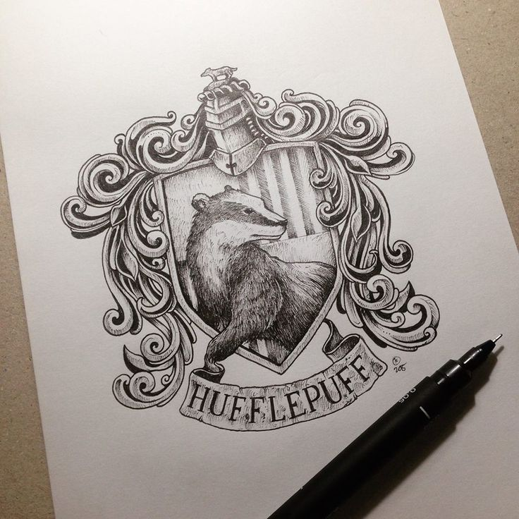 "torteen: ""kerbyrosanes: ""Had fun doing this series of HP house crests during breaks from commissioned projects. All of them are cool but Slytherin is my personal favorite. Follow my stuff on Instagram..."