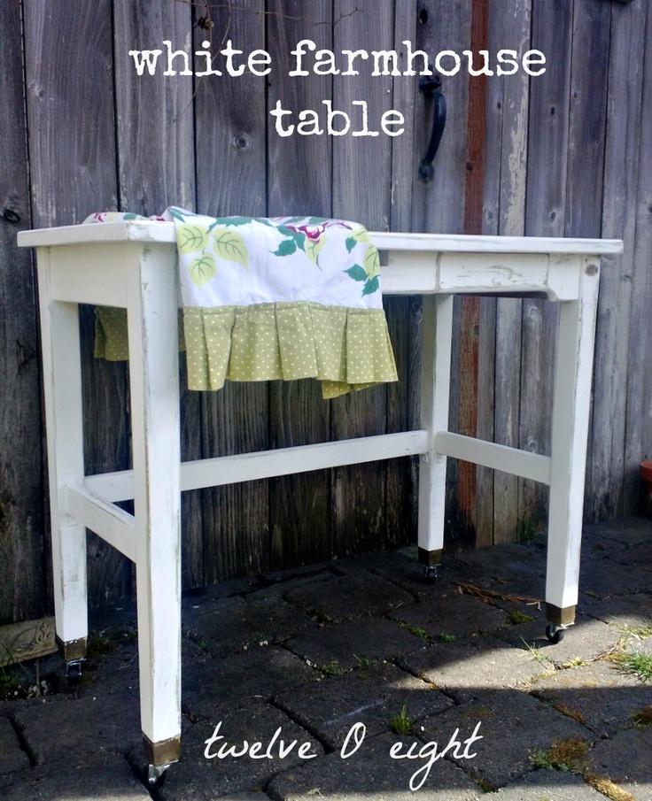 twelveOeight: White Farmhouse Table