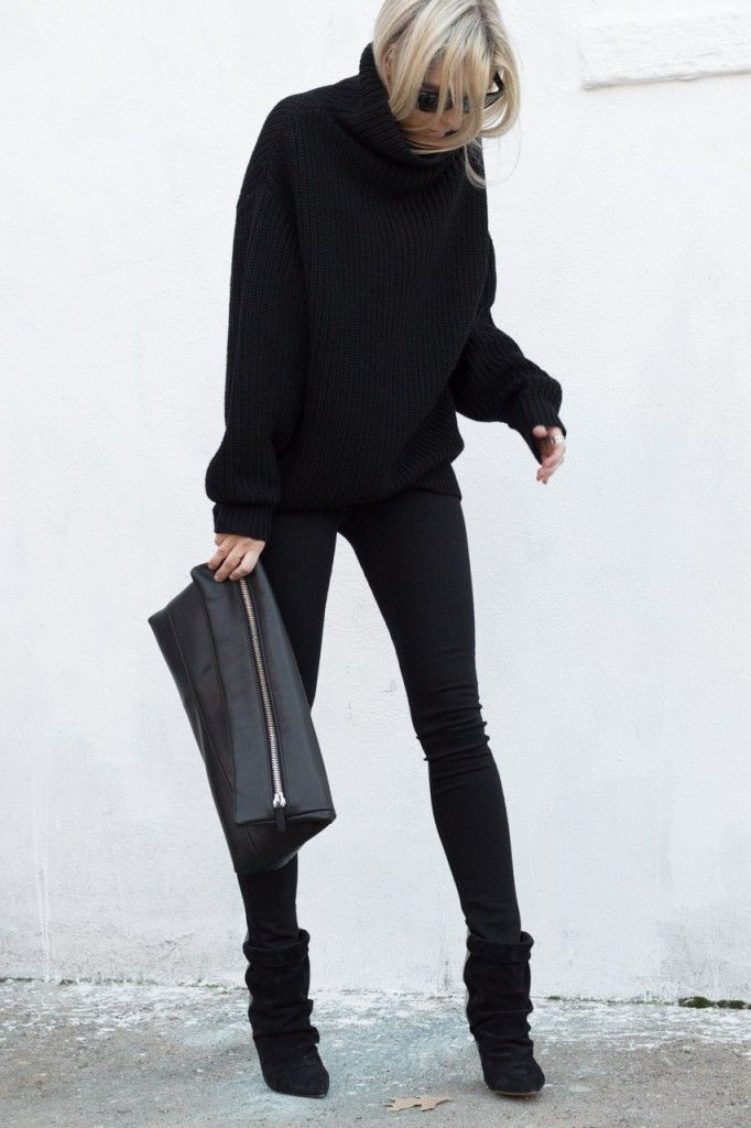 Aritzia Wilfred Montpellier Sweater + Isabel Marant Andrew Suede and Leather Ankle Boots Black