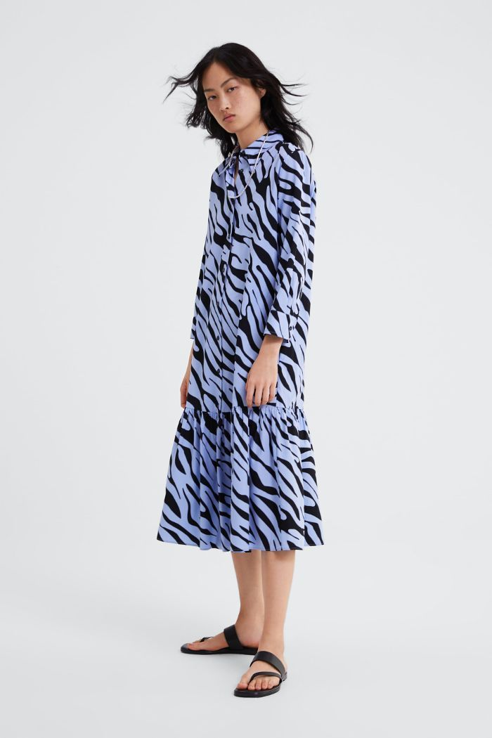 c19d3de60f0 Animal print shirt dress in 2019
