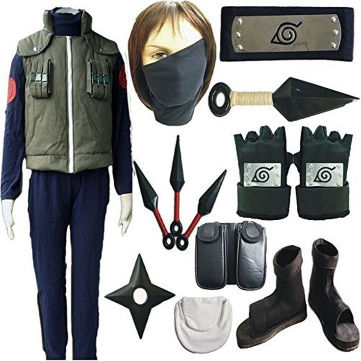 Vicwin-one Naruto Kakashi Full Set Cosplay Costume Outfits -- You can find more details by visiting the image link.