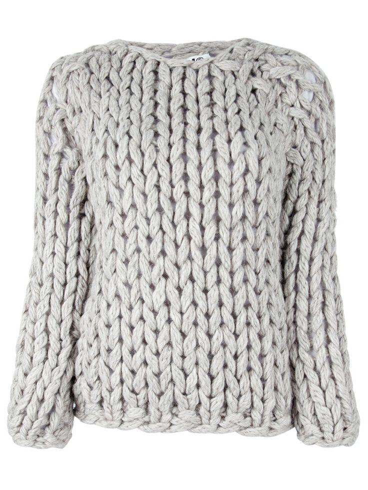 MM6 BY MAISON MARTIN MARGIELA - Heavy Knit Sweater.