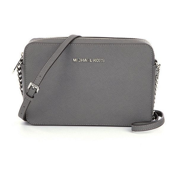 MICHAEL Michael Kors Jet Set Travel Large Cross-Body Bag found on Polyvore featuring bags, handbags, shoulder bags, purses, cross body, crossbody handbags, travel crossbody, cross body travel purse and travel shoulder bag