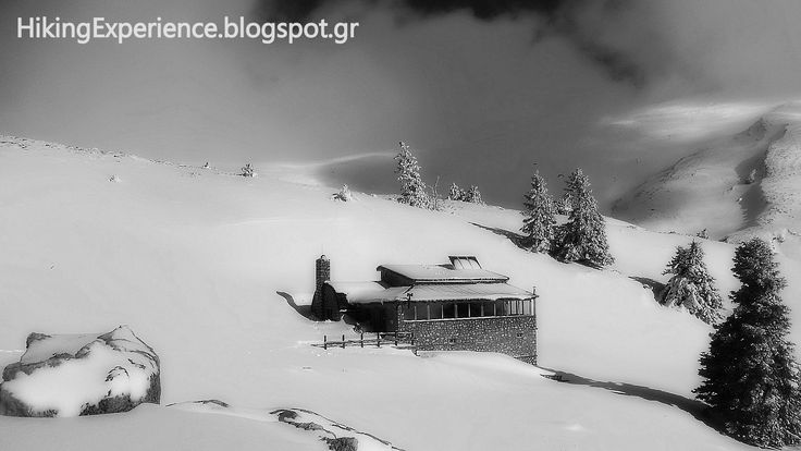 """""""Michael Deffner"""" shelter, built at an altitude of 1,820 m., on the western slopes of Mount Parnassus."""