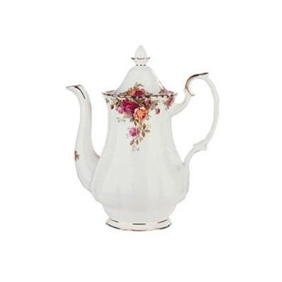 Lovely Royal Albert Old Country Roses Coffee Pot. Full range available! - Was £75 Now £60