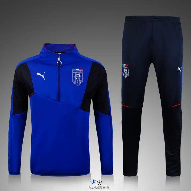 destockage Nouveau Survetement de foot Italie Bleu 2015 2016 football