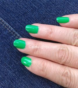 flormar n014 green nailpolish