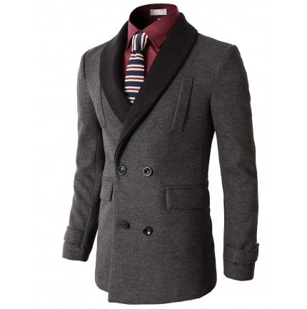 White shawl collar double breasted jacket
