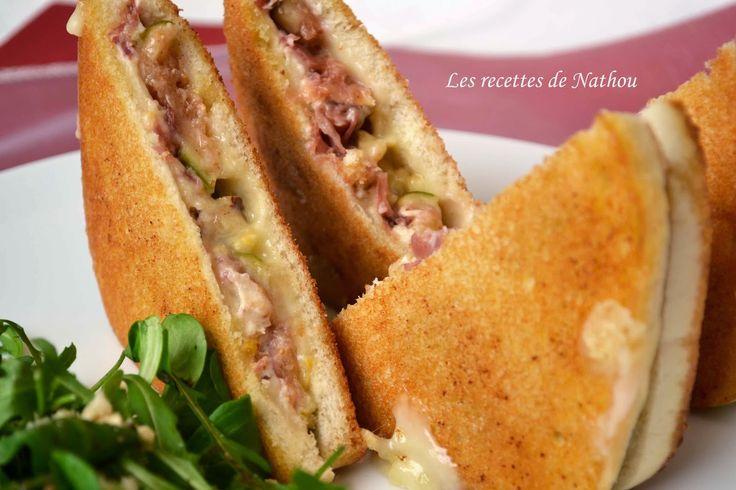 Les recettes de Nathou: Croques aux figues et noisettes grillées, jambon cru, Boursin et Reblochon