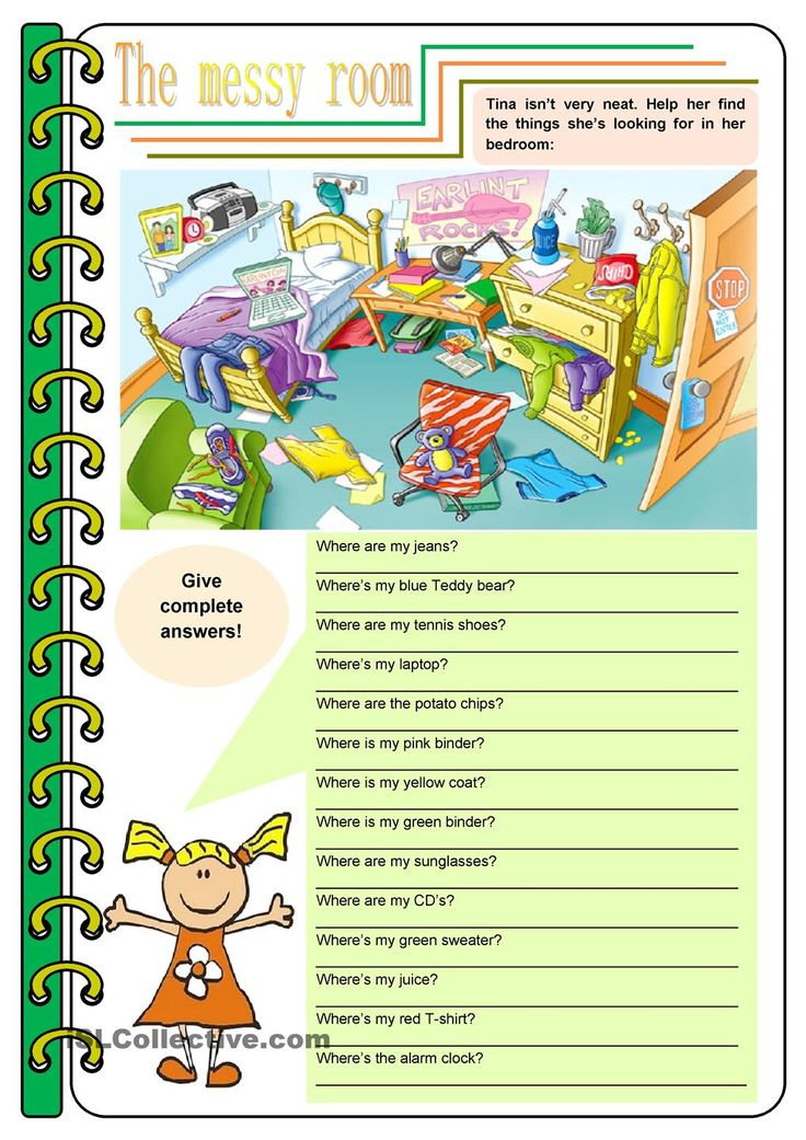 The messy room – there be, prepositions, to be [4 tasks] KEYS INCLUDED ((3 pages)) ***editable