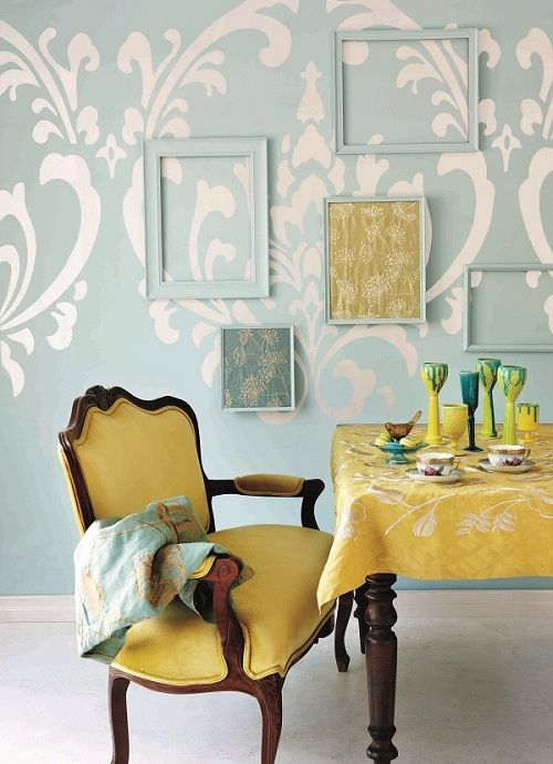 Duck Egg Blue With Yellow And Mid Browns   Always Gorgeous! Plascon Colour  Of