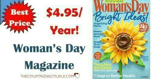 BEST DEAL AROUND! What a great gift idea-- for yourself or someone else! Grab Women's Day Magazine for only $4.95 year! That is a ton of articles, recipes, how-tos and so much more for cheap!  Click the link below to get all of the details ► http://www.thecouponingcouple.com/womens-day-magazine/ #Coupons #Couponing #CouponCommunity  Visit us at http://www.thecouponingcouple.com for more great posts!