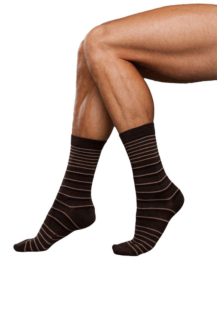 J.Press férfi csíkos zokni otthonra [N° D148] Ár: 870Ft