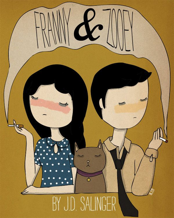 Perfect Gift for me! :D   Franny and Zooey - 8 x 10 Illustration Print..