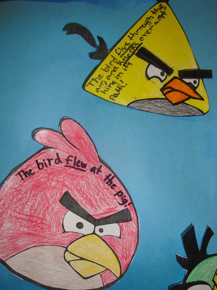 Angry Verbs Activity