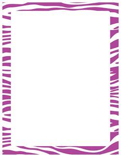 Purple Zebra Print Border