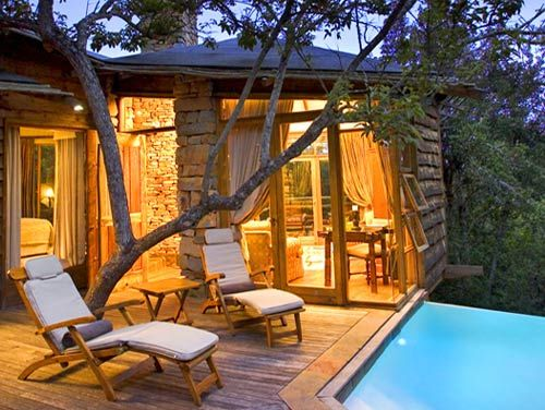 Tsala Treetop Lodge, South Africa Each treetop suite at Tsala features a private infinity pool. There are also daytime trips to elephant, monkey and wild cat sanctuaries--should you want to leave your private infinity pool, that is. ($300 per person)