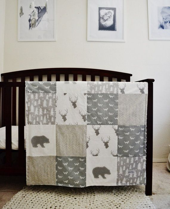 Crib Sheet Gray And White Tree Print
