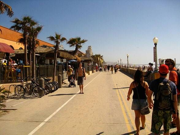 Cruise the Boardwalk @ Pacific Beach on a bike, you can rent one @ Ray's