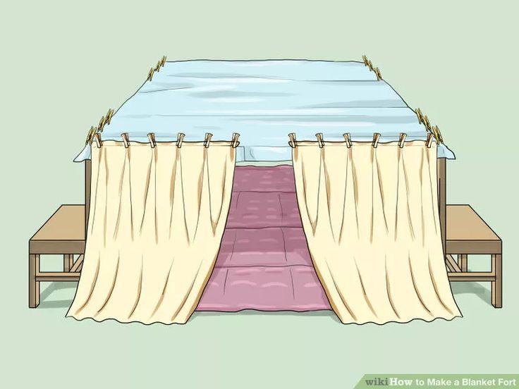 Image Titled Make A Blanket Fort Step 19