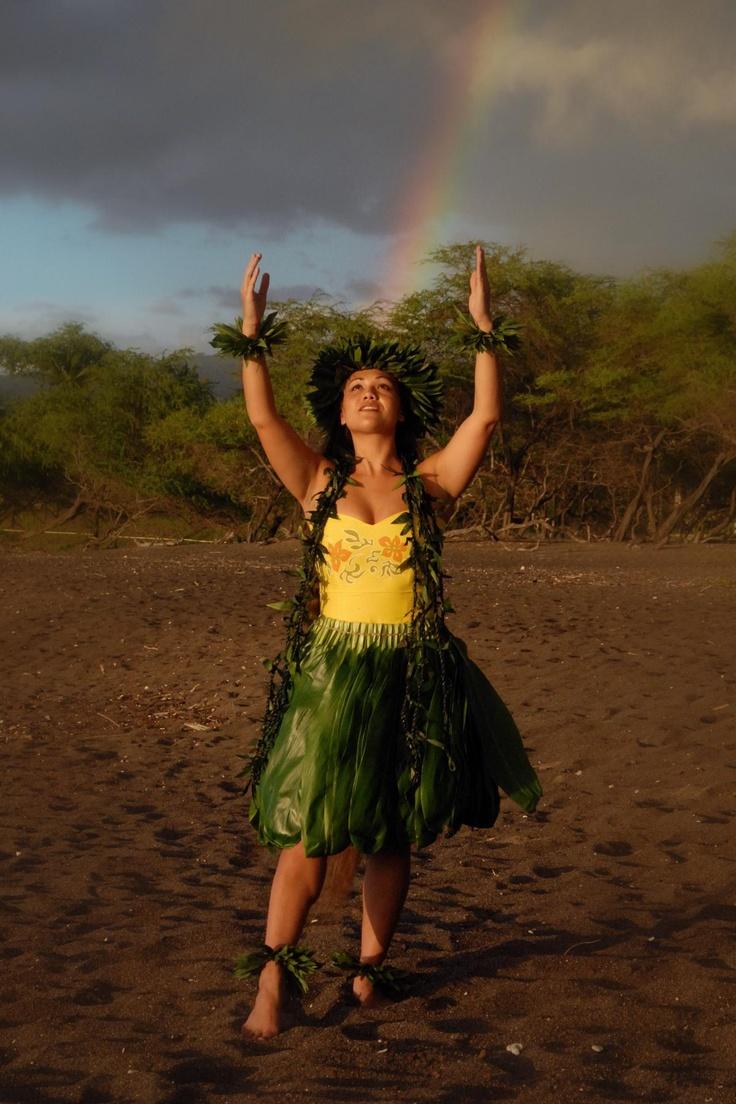 Hawaiian rainbow and hula. <3