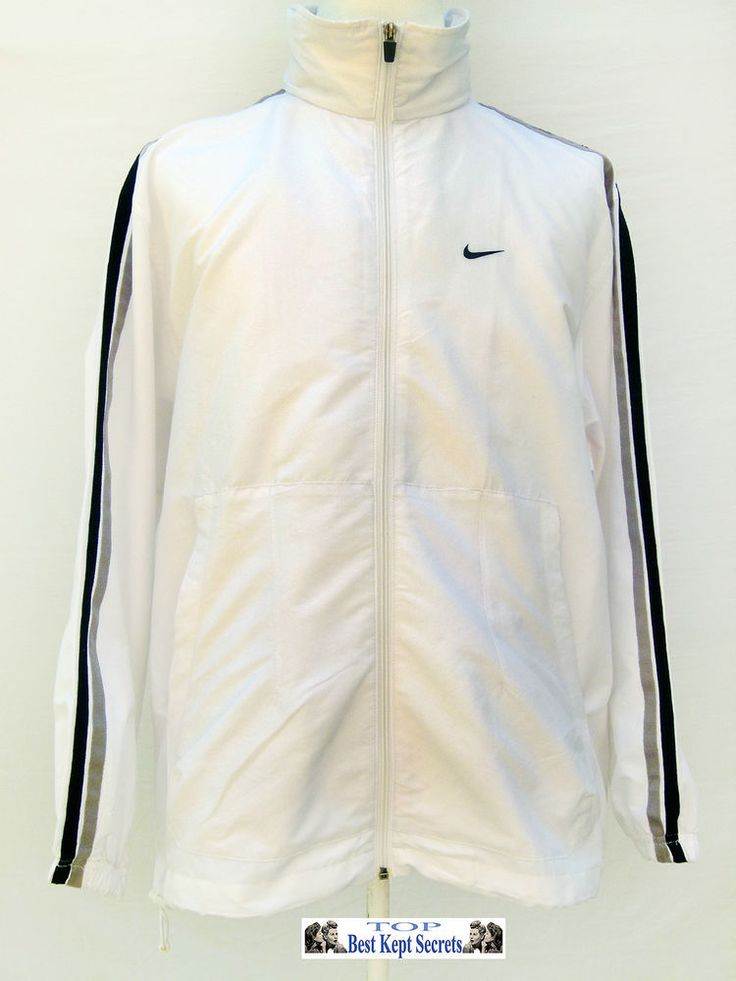 Nike mens womans clothing hooded type jacket white  Windbreaker  Ref,1305