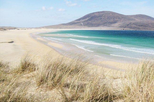 Scarista Beach on the isle of Lewis & Harris, in the Outer Hebrides, Scotland. I was just there this past August and it was divine.