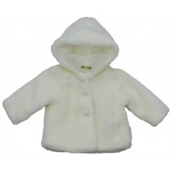 White hair coat for baby