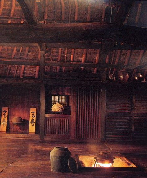 Interior of Japanese farmhouse