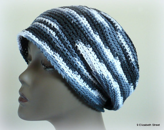 Slouchy Striped Cloche Hand Crocheted Hat by 9ElizabethStreet, $25.00: Favorite Etsy, Striped Cloche, Crocheted Hats, Slouchy Striped, Etsy Shops, Cloche Hand