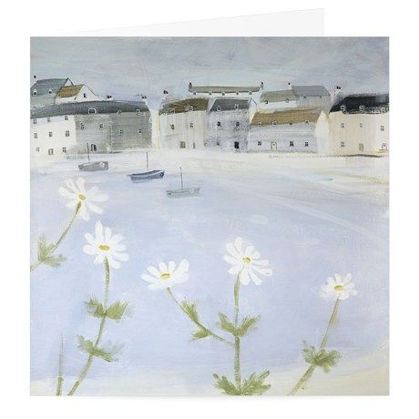 Daisies Art Greeting Card By Hannah Cole - Card Open