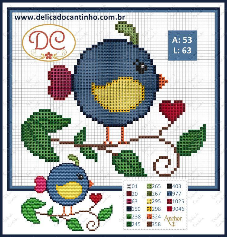 Bird pattern by Delicado Cantinho