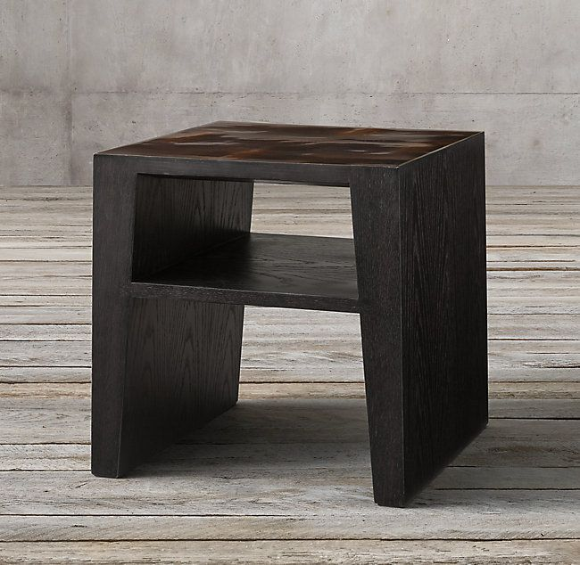 Wyeth Split Bamboo Square Side Table Square Side Table Side