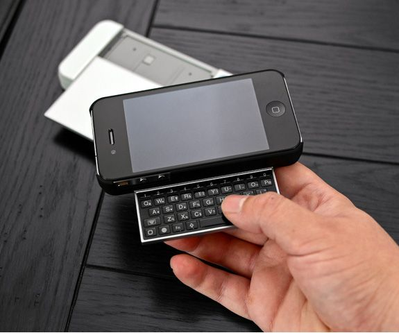 Fold-out bluetooth keyboard for iPhone. Had a play with one yesterday.