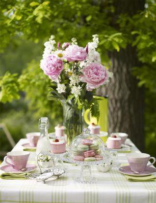 Decoração mesa de chá