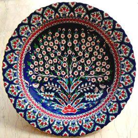 Çini Tabaklar İznik Kütahya Seramikleri Ottoman Ceramic Plates 18cm El Yapımı Hand Made Turkish Ceramics Cini Tabak