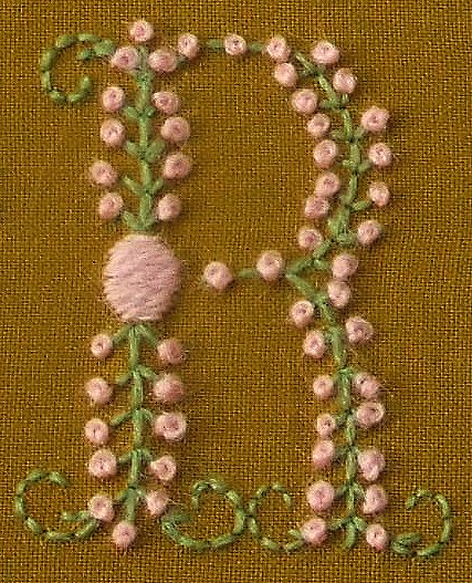 Detailed View of the Letter R from the Sampler