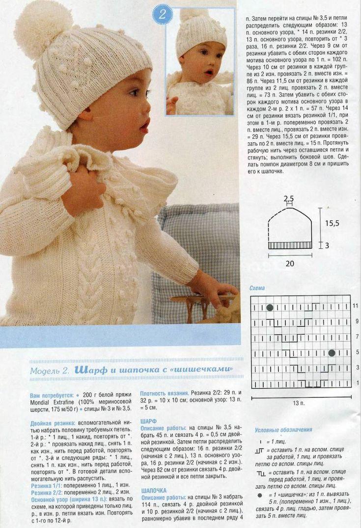 комплект для новорожденной девочки крючком схема