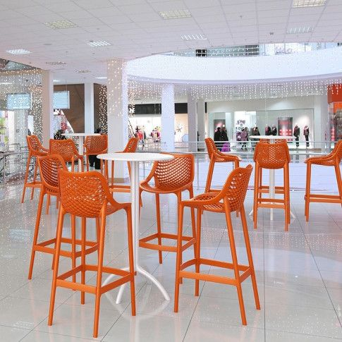 This stool is built to last in busy commercial venues, indoor or outdoor.