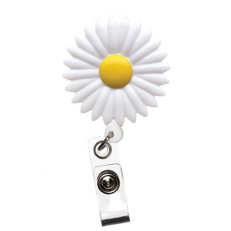 Daisy Flower Retractable Badge Reel