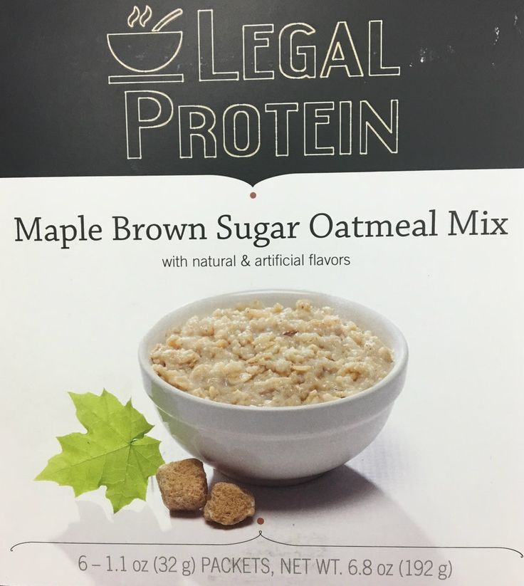 Delicious Maple Brown Sugar Oatmeal is only 9 gm net carbohydrate with 15 gm of high-quality protein.  Enjoy for breakfast or any time of day.   It works with your diet!