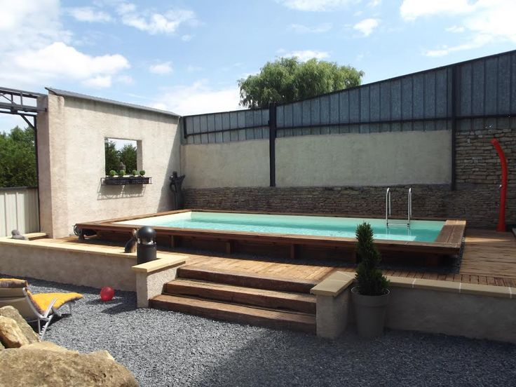 piscine bois enterre rectangulaire httpsyoutubesvt il2fbyc - Piscine Bois Enterree Rectangulaire