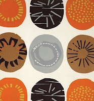 """Apollo"" by Lucienne Day, late 1950s.  Manufactured by Heal Fabrics. @Deidré Wallace"