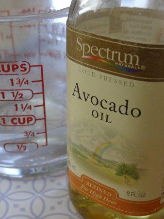 Homemade Cooking Spray Recipe: 1 part avocado/safflower oil, 2-4 parts water