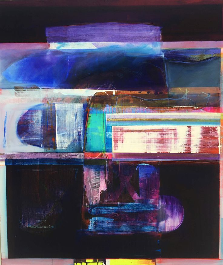 """""""Blue on Blue 2"""" 153cm x 122cm. For more information please contact REDSEA Gallery on (07) 3162 2230 © John Waller"""
