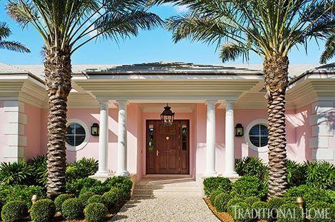 Colorful Coastal Home Beach Cottage Style Palm Beach